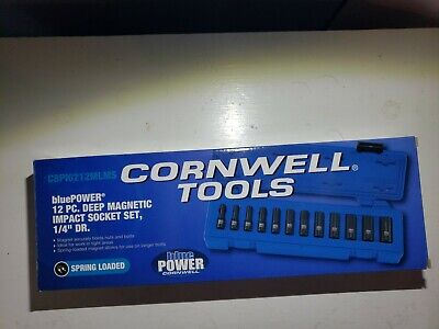 Cornwell 12 Piece Deep Magnetic Impact Socket Set 1/4 Drive