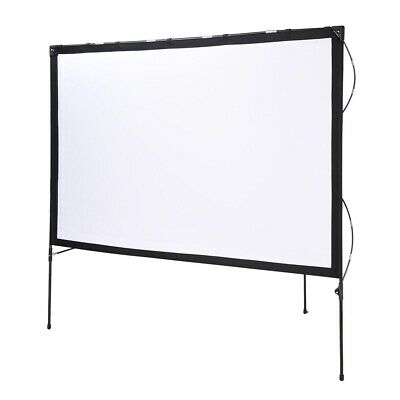 """77"""" 16:9 Portable Projector Screen with Foldable Frame Stand for Movie Projector"""