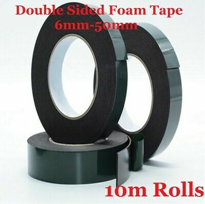 Black Double Sided Foam Automotive Permanent Car Body Trim Self Adhesive Tape