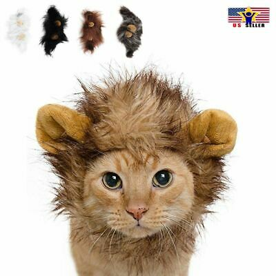 Lion Head Mane Wig Hair Headgear for Small Cat Dog Puppy Pet Costume Cosplay