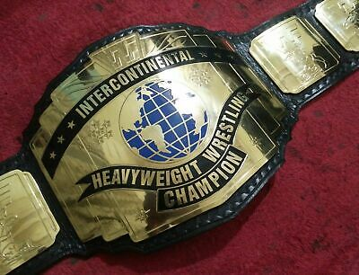 WWE Intercontinental Heavyweight Wrestling Championship Belt Leather Replica New