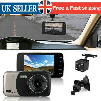 4''HD 1080P Dual Lens Car DVR Cam Recorder Front View And Rear Camera Video Dash