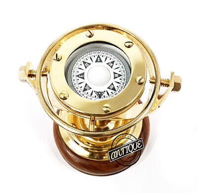 Premium Gift For Parents/Old Age Vintage Nautical Marine Compass Binnacle Gimbal