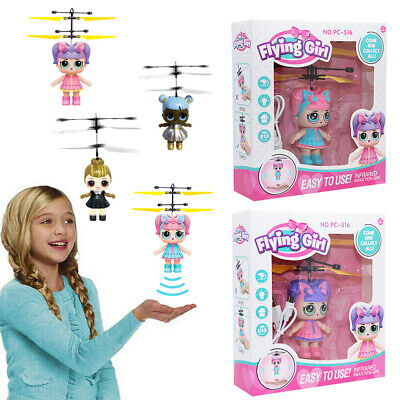 LOL Flying Girls Doll Fairy Princess Magic Infrared Induction Control Xmas Toy G