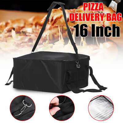 UK Hot Food Pizza Takeaway Restaurant Delivery Bag Thermal Insulated 42x42x23cm