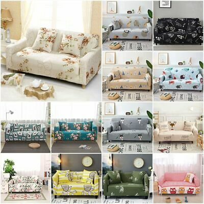 Floral Sofa Covers Couch Slipcover Stretch Elastic Fabric Settee Protector NEW