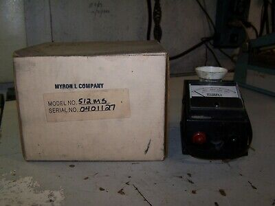 MYRON L COMPANY MODEL 512M5 DS CONDUCTIVITY METER 0 to 5,000 ppm