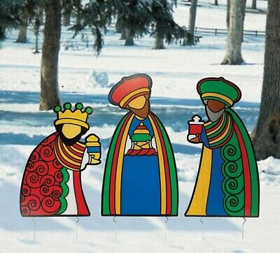 Set Of 3 Porcelain 13 Three Kings Magi Nativity
