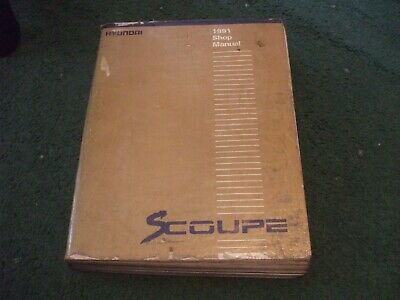 Hyundai Scoupe S Coupe Factory Workshop Manual1991