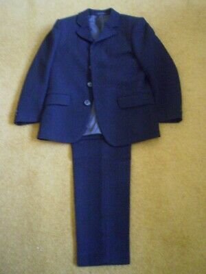 """Black suit jacket / trousers size 6 chest 28"""" age 8 - 10 years Excellent Cond."""