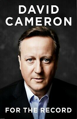 Signed Book - For the Record By David Cameron