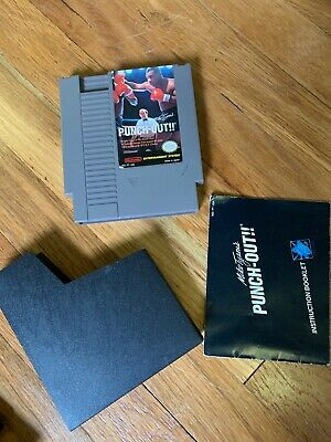 MIKE TYSON'S PUNCH-OUT NES Nintendo Video Game Cartridge Original w/ Manual