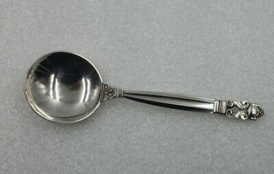 """Georg Jensen Acorn Sterling Silver Rd Cream Soup spoon 5 1/4"""" Sold Individually"""