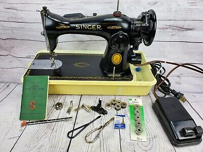 1952 Vintage Singer Sewing Machine Model 15-91Heavy Duty Gear Driven Machine