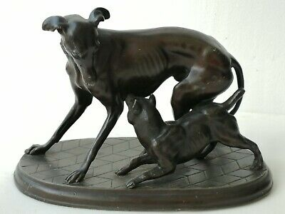 Pierre Jules Mene Bronze Sculpture  Two Dogs