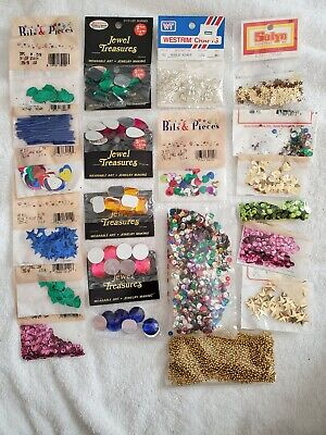 Large lot of Beads and Sequin embellishments for crafts