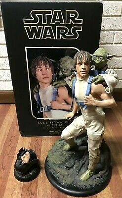 Sideshow Star Wars Empire Luke Skywalker & Yoda Premium Format Figure Exclusive