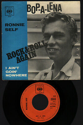 "♫ 7"" 1960s Ronnie Self BOP-A-LENA Rockabilly 1958 PICTURE COVER GERMANY CBS EX ♫"
