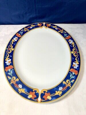 Bernardaud Limoges Porcelain Roma Bleu Oval Tray / Platter 38 cm - NEW