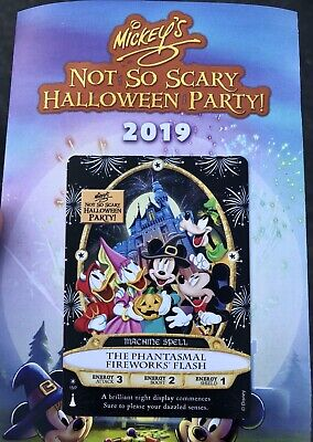 2019 MNSSHP Halloween Party Sorcerers Of The Magic Kingdom Card