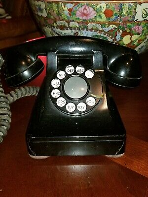 ●Vintage Telephone Phone Western Electric Rotary Dial Bell Systems Black $19.99!