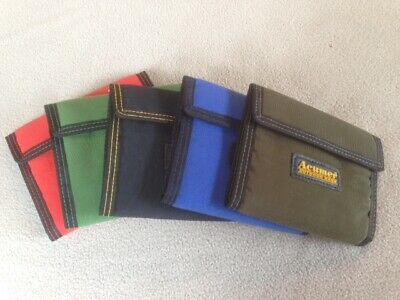 Acumer Canvas 3 Fold Wallet Velcro Close 8 Pockets TriFold Colors Vary NEW!