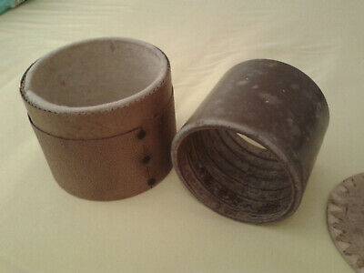 Phonograph Wachs Walze braun 5'' Stentor brown wax cylinder cire brune cylindre