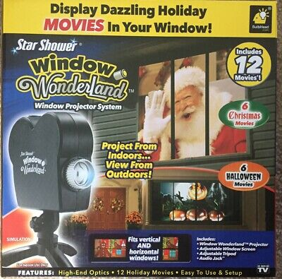 New Star Shower Window Wonderland 12 Movies Projector Halloween Christmas