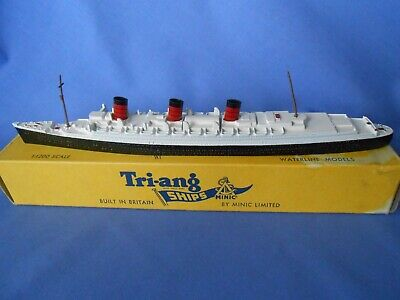 Rms Queen Mary Triang Minic Diecast Vintage Ship Model M703 With Original Box