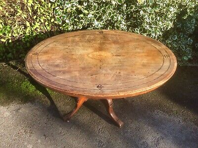 Edwardian Inlaid Walnut Oval Breakfast Tilt Top Loo Table