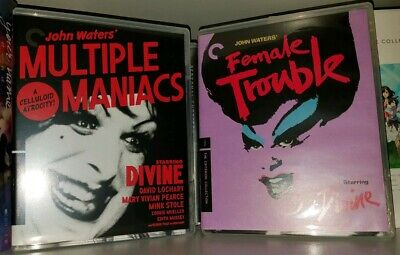 Criterion Collection Bluray lot John Waters: Female Trouble & Multiple Maniacs