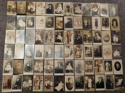 Real Photo Postcards Lot (72) Different 1900