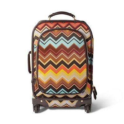 """Missoni for Target: Colore Zig Zag 22.5"""" Rolling Carry-On Suitcase *NWT*"""