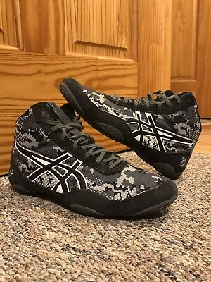 asics jb elite wrestling shoes black/gray Size 8.5