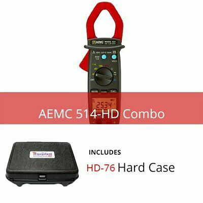 AEMC 514-HD Clamp-On Meter Model 514 with Multipurpose Hard Case