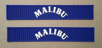 Two (2) New Malibu Rum Bar Mats