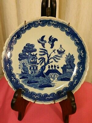 Antique Chinese Blue and white porcelain plate handmade rare and old signed...
