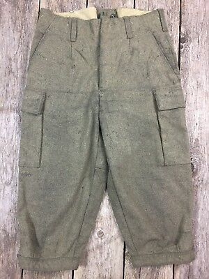 vtg 1973 NATO Military Olive Green Wool German Knickers Men's Pants sz 33