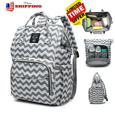LEQUEEN Waterproof Baby Diaper Bag Mummy Maternity Nappy Travel Backpack