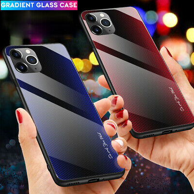 Slim Tempered Glass Hard Back Cover Case for iPhone 11 Pro Max XR XS X 6 7 8Plus