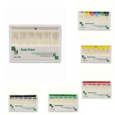 200pcs Dental 02 Taper Absorbent Paper Points Dentist #15-40 hot Product E5N7