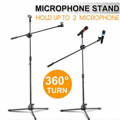 1/2pcs Professional Boom Arm Microphone Mic Stand Holder Adjustable Clips Tripod