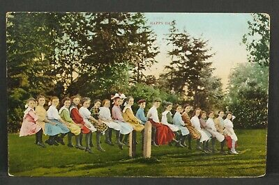 Postcard Children on Seesaw Teeter Totter Happy Days Divided Back 1911 A1