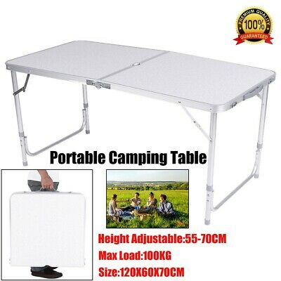 4FT Portable Aluminum Adjustable Folding Table Camping Outdoor Picnic Party BBQ