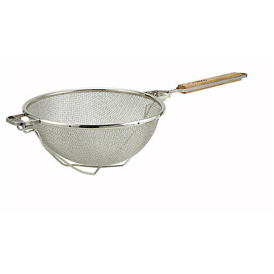 Winco MST-10RB, 10.5 Double Mesh Strainer with Reinforced Bowl
