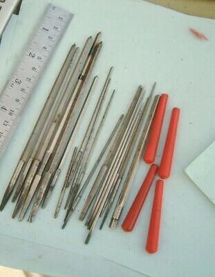 clock makers BIG lot Reamers broaches for clock repairer longcase clock fusee
