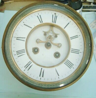 Clock makers French clock movement by Marti Paris Visual escapement for parts