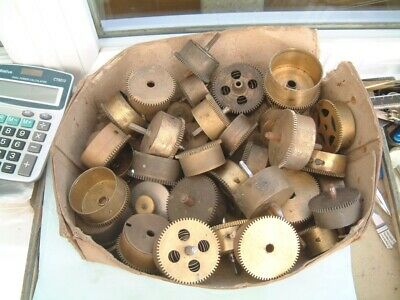 clock maker lot brass  main spring barrels clock restorer Horologist steampunk