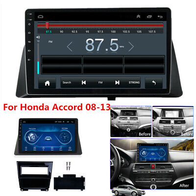 10.1'' Android 9.1 Car Stereo Radio WIFI BT GPS Player For Honda Accord 08-13 US