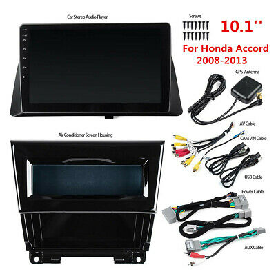 For Honda Accord 08-13 Android 9.1 10.1'' GPS Navigation Stereo Radio Wifi BT FM